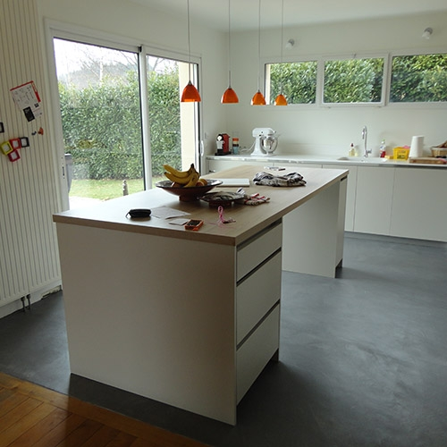 Beton Cire Sol Cuisine Nos Clients Ont Realise Fabricant